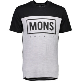 Mons Royale M's Redwood MR Box V-Neck T-Shirt Black/Grey Marl